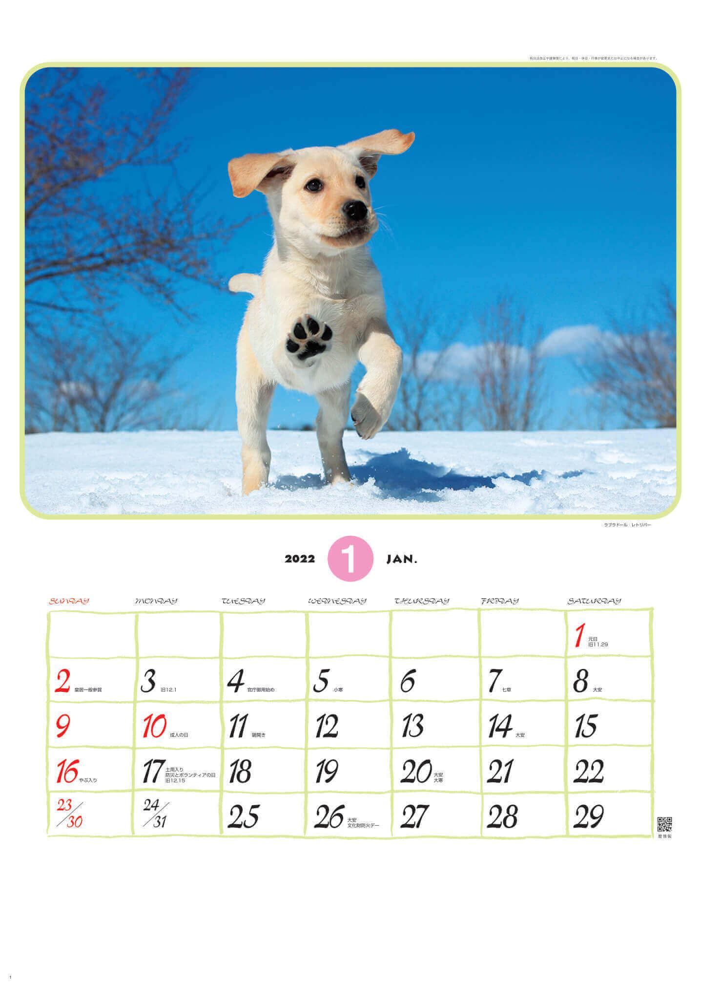 ラブラドール・レトリバー リトルフレンド 2022年カレンダーの画像