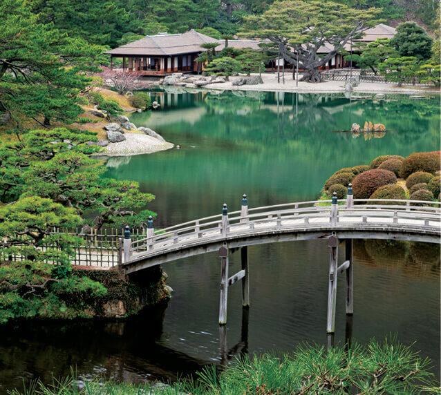 1月 栗林公園(香川) 日本の美 2022年カレンダーの画像
