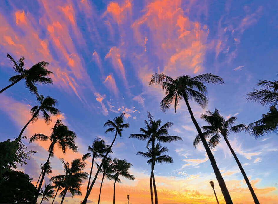 7月 ハワイの夕焼け雲 SORA -空- 2022年カレンダーの画像
