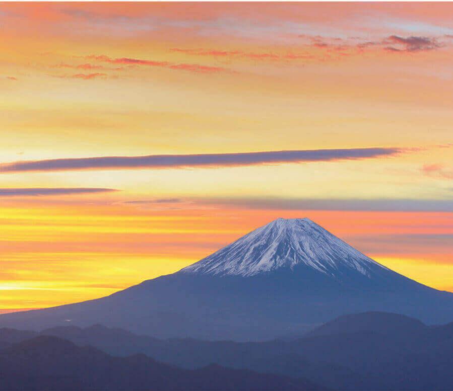 1月 富士山(山梨) 日本の朝 2022年カレンダーの画像