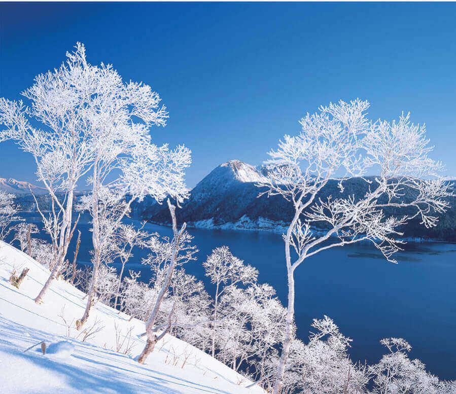 2月 摩周湖(北海道) 日本の朝 2022年カレンダーの画像