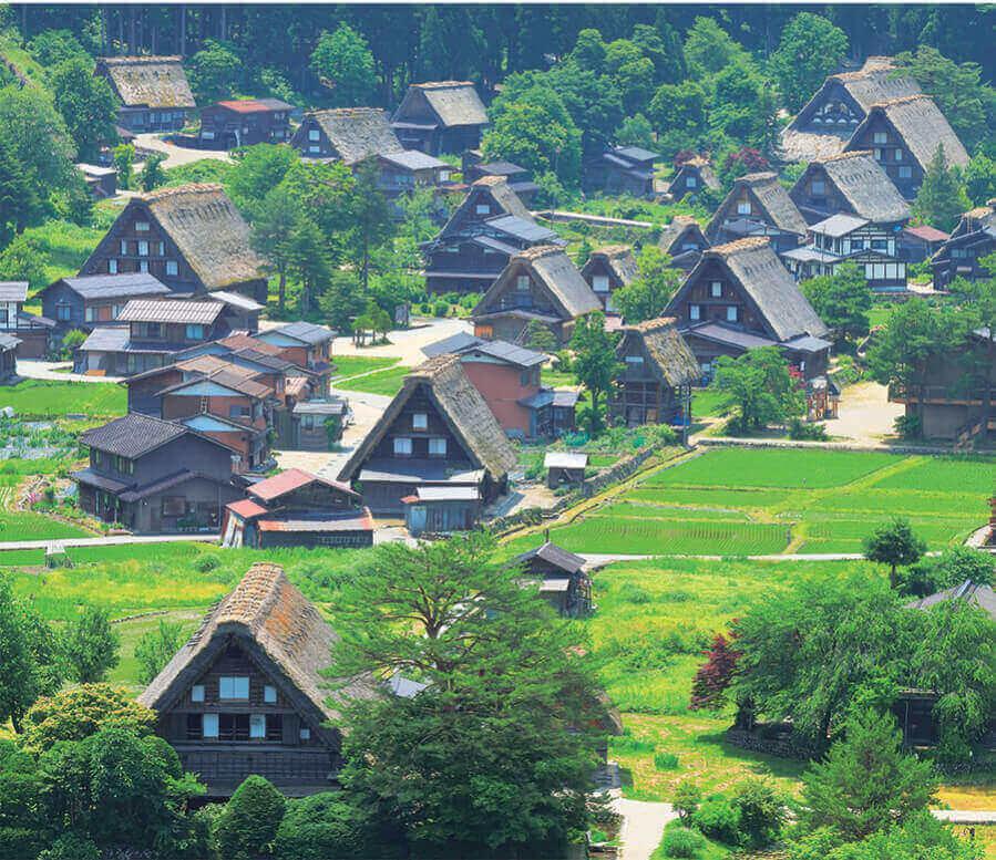 6月 白川郷(岐阜) 日本の朝 2022年カレンダーの画像