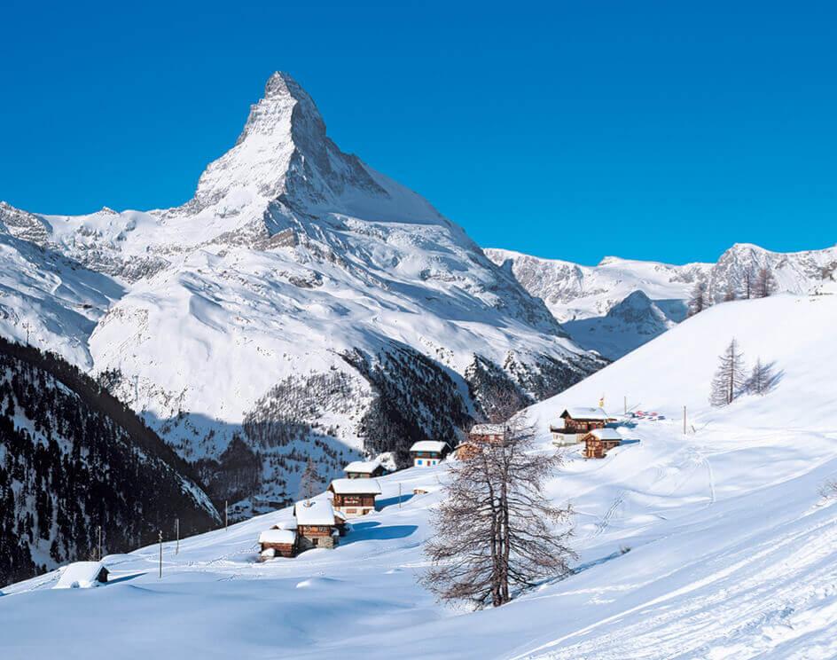 1-2月 スイス ヨーロッパ 2022年カレンダーの画像