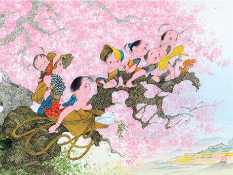 3-4月 大樹の春 風の詩・中島潔作品集 2022年カレンダーの画像