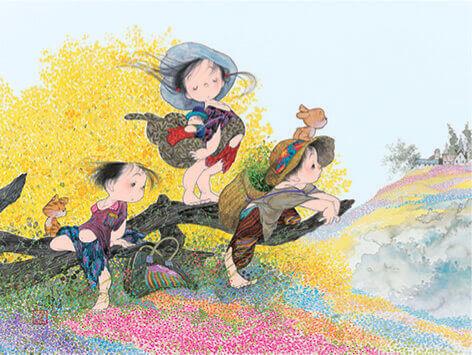 5-6月 春の風 風の詩・中島潔作品集 2022年カレンダーの画像