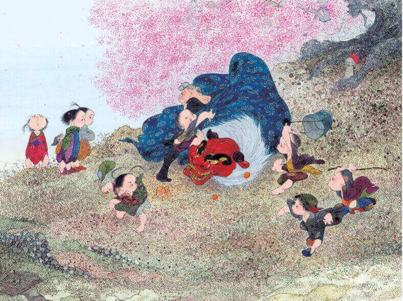 1-2月 獅子舞 風の詩 中島潔作品集(フィルムカレンダー) 2022年カレンダーの画像