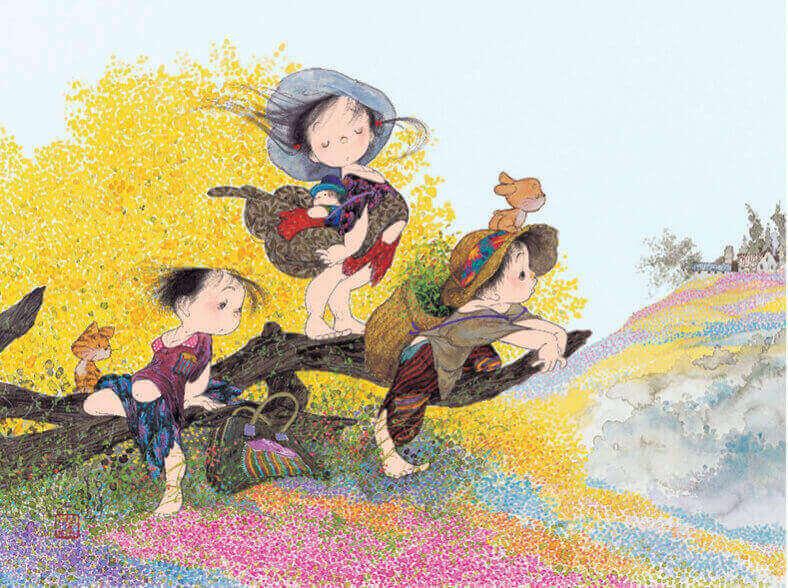 5-6月 春の風 風の詩 中島潔作品集(フィルムカレンダー) 2022年カレンダーの画像