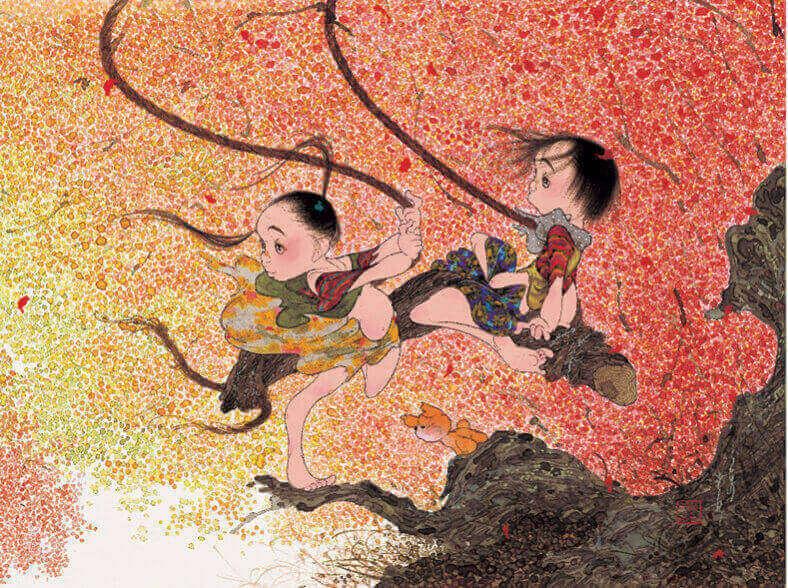 9-10月 ゆれる風色 風の詩 中島潔作品集(フィルムカレンダー) 2022年カレンダーの画像