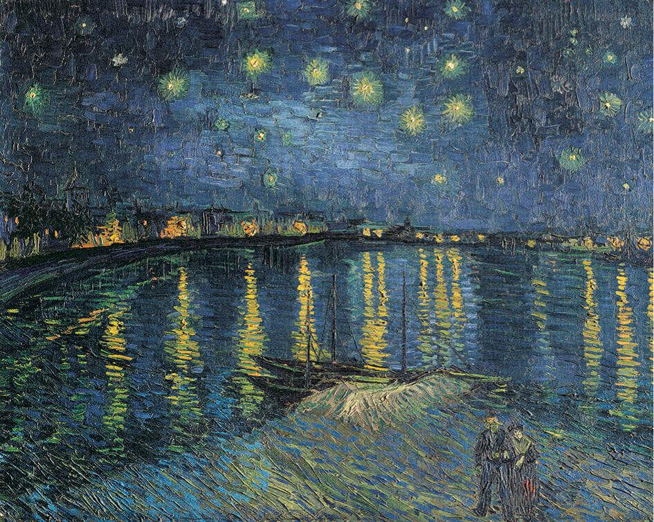 7-8月 ゴッホ 星降る夜  パリ・オルセー名作選(フィルムカレンダー) 2022年カレンダーの画像