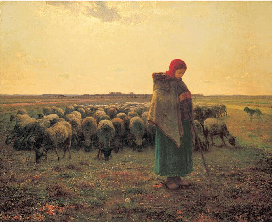 11-12月 ミレー 羊飼いの少女 パリ・オルセー名作選(フィルムカレンダー) 2022年カレンダーの画像