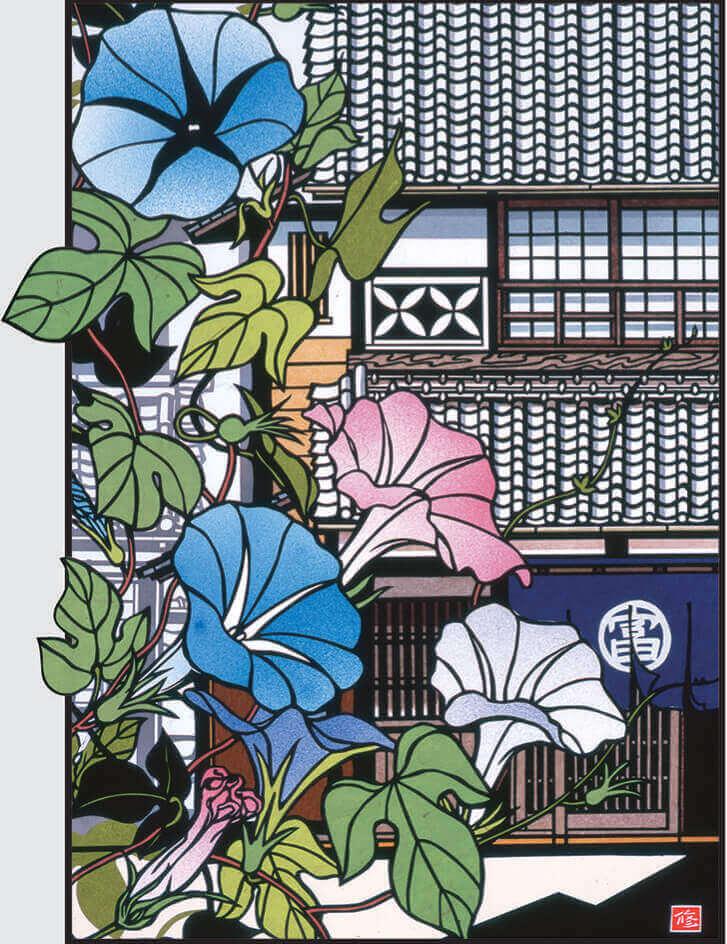7月 盛夏 四季めぐり・久保修切り絵作品集 2022年カレンダーの画像