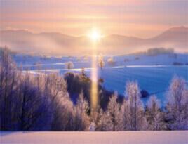 12-1月 美瑛町(北海道) 彩り日本(12月はじまり) 2022年カレンダーの画像