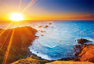 10月 襟裳岬」(北海道) 輝く太陽 2022年カレンダーの画像