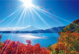 11月 富士河口湖町(山梨) 輝く太陽 2022年カレンダーの画像