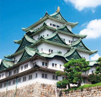 1-2月 名古屋城(愛知) 日本の名城 2022年カレンダーの画像