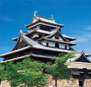 7-8月 松江城(島根) 日本の名城 2022年カレンダーの画像