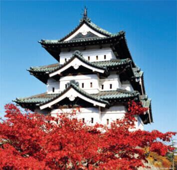 9-10月 弘前城(青森) 日本の名城 2022年カレンダーの画像