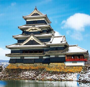 11月-12月 松本城(長野) 日本の名城 2022年カレンダーの画像