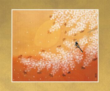 3-4月 花ふぶき 花鳥諷詠 2022年カレンダーの画像