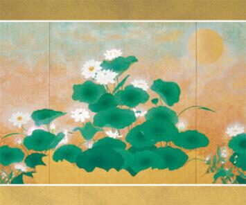 7-8月 清浄蓮華(部分) 花鳥諷詠 2022年カレンダーの画像