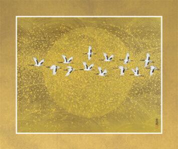 11-12月 千羽鶴 花鳥諷詠 2022年カレンダーの画像