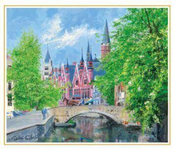 5-6月 ブルージュの橋 ベルギー 欧羅巴を描く 小田切訓 2022年カレンダーの画像