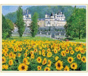 7-8月 ロワールの城 フランス 欧羅巴を描く 小田切訓 2022年カレンダーの画像