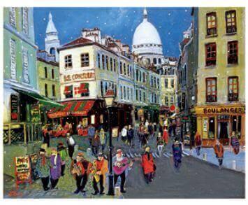 1-2月 雪のモンマルトル Love Paris・田中善明作品集 2022年カレンダーの画像