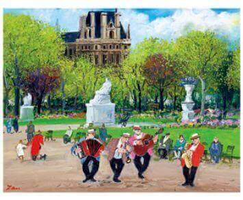 3-4月 春の公園 Love Paris・田中善明作品集 2022年カレンダーの画像