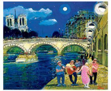 7-8月 セーヌの夜 Love Paris・田中善明作品集 2022年カレンダーの画像