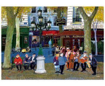 9-10月 小さな公園で Love Paris・田中善明作品集 2022年カレンダーの画像