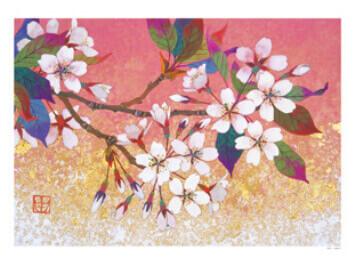 3-4月 花盛り 輝きの情景・村越由子作品集 2022年カレンダーの画像