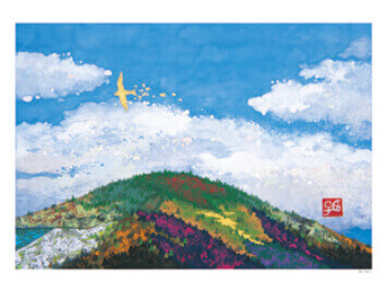 9-10月 飛翔 輝きの情景・村越由子作品集 2022年カレンダーの画像