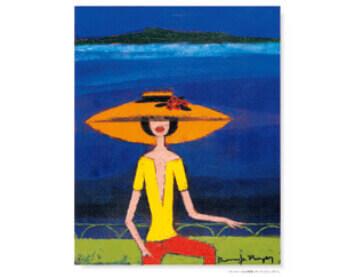 7-8月 サンクレール山を背景にポーズ ロジェ・ボナフェ作品集 2022年カレンダーの画像