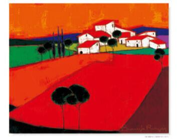9-10月 赤い斜面とオレンジ色の空 ロジェ・ボナフェ作品集 2022年カレンダーの画像