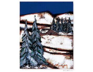 11-12月 雪のつもった斜面 ロジェ・ボナフェ作品集 2022年カレンダーの画像
