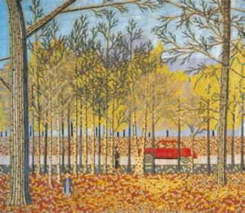 9-10月 神宮外苑 山下清作品集 2022年カレンダーの画像