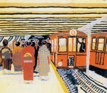 11-12月 上野の地下鉄 山下清作品集 2022年カレンダーの画像