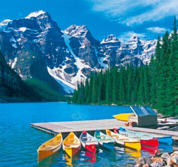 5-6月 モレーン湖 カナダ 世界のリゾート(フィルムカレンダー) 2022年カレンダーの画像