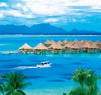 7-8月 ボラボラ島 フランス領ポリネシア 世界のリゾート(フィルムカレンダー) 2022年カレンダーの画像