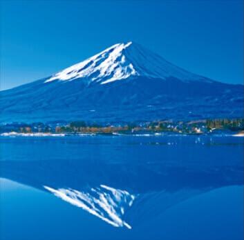 1-2月 河口湖と富士山-山梨 美しい水辺(フィルムカレンダー) 2022年カレンダーの画像