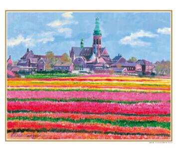 3-4月 アムステルダム郊外の村 オランダ ヨーロッパの印象(フィルムカレンダー) 2022年カレンダーの画像