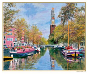 9-10月 秋の運河を航く オランダ ヨーロッパの印象(フィルムカレンダー) 2022年カレンダーの画像