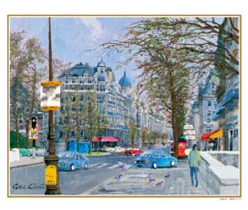 11-12月 パリ街景 フランス ヨーロッパの印象(フィルムカレンダー) 2022年カレンダーの画像