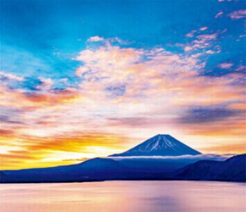 1-2月 本栖湖と富士山(山梨) 日本の詩情(フィルムカレンダー・小) 2022年カレンダーの画像