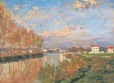 9-10月 アルジャントゥイユのセーヌ川 モネ 2022年カレンダーの画像