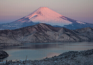 1-2月 箱根大観山より(神奈川) 富士の四季 2022年カレンダーの画像