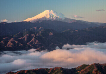 11-12月 陣馬山より(東京) 富士の四季 2022年カレンダーの画像