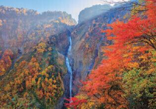 10月 称名滝(富山) 天地自然・森田敏隆写真集 2022年カレンダーの画像