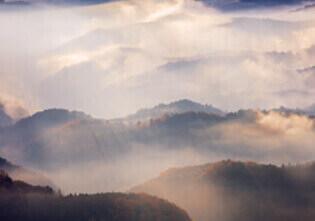 11月 鳥見山公園より雲海と山並み(奈良) 天地自然・森田敏隆写真集 2022年カレンダーの画像